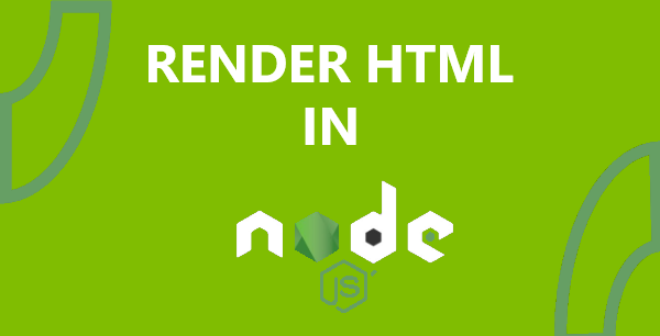 How to render html in node js