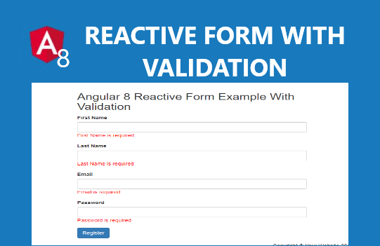 Angular 8 Reactive Forms Tutorial with Examples